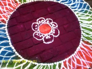 Rangoli for Ghandi