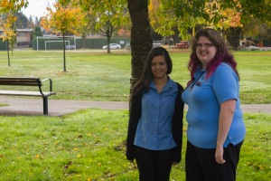 The new DC team! Deputy District Commissioner Saffina (right) and District Commissioner Bethany (left)